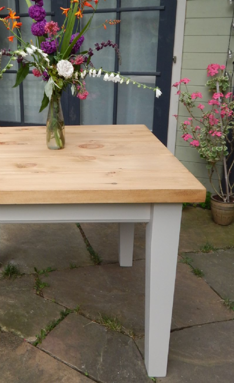 7ft Rustic FH Table (tapered leg)